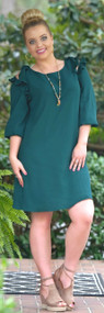 Keep Thinking Of Me Dress - Hunter Green