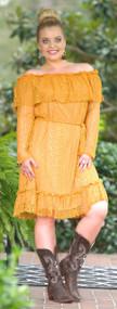 Explore New Horizons Dress - Mustard
