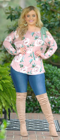 Pink Peony Top***FINAL SALE***