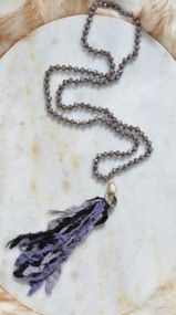 Can't Say No Necklace - Purple/Black
