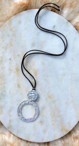 String Me Along Necklace - Black & Silver