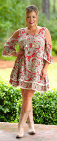 Give It A Whirl Tunic / Dress - Red
