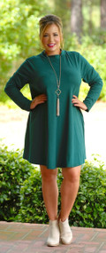 Ways Of My Heart Dress - Hunter Green