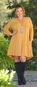 Take Me By The Hand Dress - Mustard