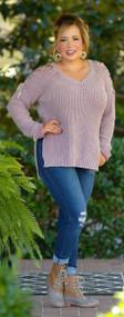 Sassy As Always Sweater - Mauve