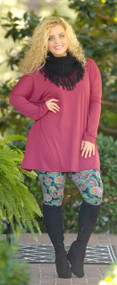 Not One For Frills Tunic - Wine