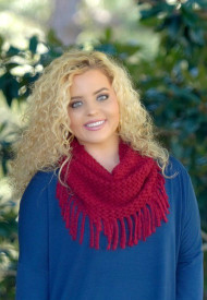 Keep Me Cozy Scarf - Burgundy