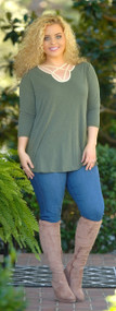 Fall Into Me Top - Dark Olive