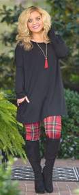 Not One For Frills Tunic - Black