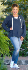 Changing My Ways Sweater - Navy
