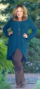 Here For The Party Tunic - Teal