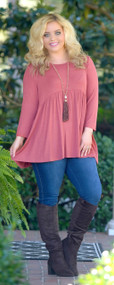 Living The Life Tunic - Marsala