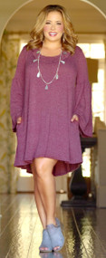 Graceful Ways Dress/Tunic - Berry