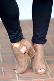 Tip Toe Around Booties - Taupe