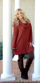 Just A Small Town Girl Tunic - Rust