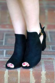 Tip Toe Around Booties - Black