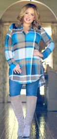 Crossing Boundaries Tunic - Blue