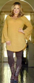 Meet Me In The Middle Tunic - Mustard