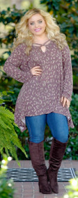 Leaping Leopard Tunic - Wine