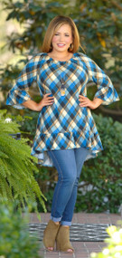 Keep Me Warm Hi-Low Tunic - Blue