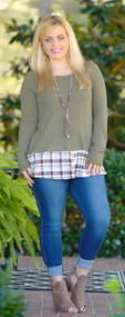 Chilly Thoughts Top - Olive