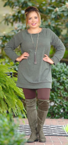 All For Myself Tunic - Olive