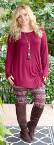 Rustic Beauty Tunic - Wine