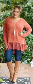 Stay With Me Top - Orange