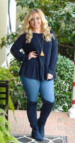 Sparkle And Shine Top - Navy