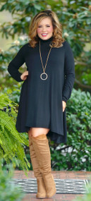At Every Turn Dress - Black