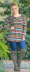 Seeing Doubles Tunic Top - Mocha