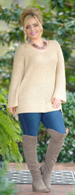 To Die For Sweater - Taupe