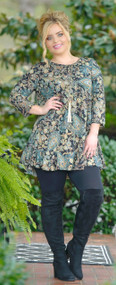 Sparkle In The Night Tunic Top - Black