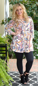 Fashionably Late Tunic - Ivory