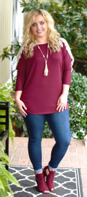 Close To You Tunic - Burgundy