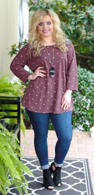 Sweet Little Mystery Top - Burgundy