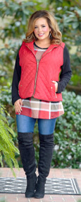 Top Of The Line Vest - Red