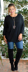 Here I Go Again Piko Top - Black