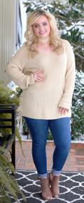 Taking Notes Sweater - Cream