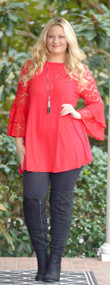 Love And Affection Tunic - Red