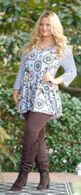 Just Be Yourself Tunic - Dusty Blue