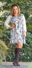 It's All In Your Mind Dress - Dusty Blue