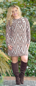 Perpetual Change Dress/Tunic - Rusty Mauve