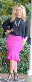 It Suits Me Well Skirt - Hot Pink