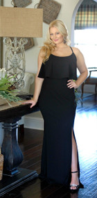 Think It Over Maxi Dress - Black