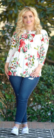 Come Back To Me Floral Top - Ivory