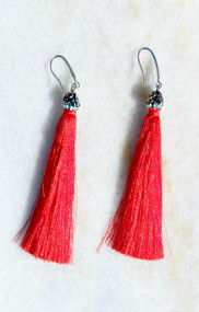 So It Goes Tassel Earring - Red