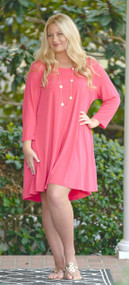 Matters Of The Heart Dress - Coral