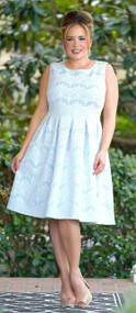 Every Move I Make Lace Dress - Sky Blue