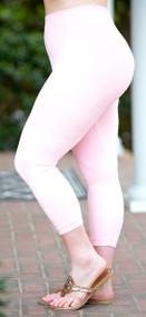 So Very Luxe Capri Leggings  - Peach